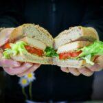 Vegan sandwich with vegan cutlet of Il Ristoro dello Sciatore