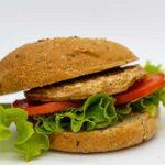 hamburger panino vegano de Il ristoro dello Sciatore